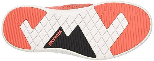 Supra Scissor Round Toe Synthetic Skate Shoe Coral/White