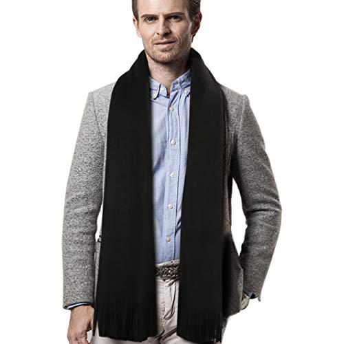 Scialle Nero Man Long Warm Winter Scarf Vbiger UOwqBB