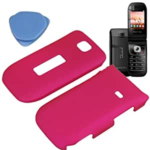 BW Hard Shield Shell Cover Snap On Case for MetroPCS, T-Mobile Alcatel One Touch 768 + Tool -Magenta Pink