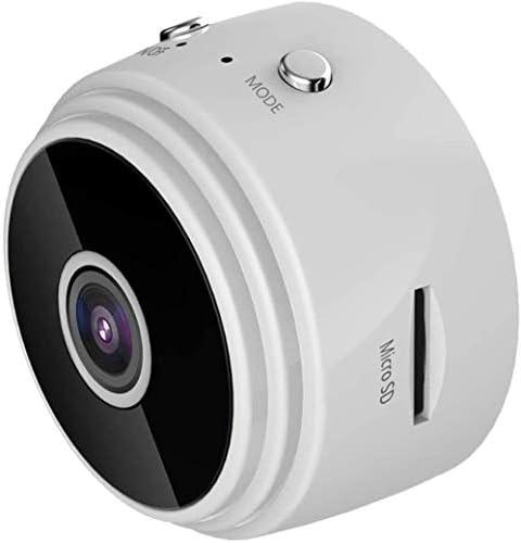 アンドロイド/IOSシステム、色に対応A9 HDナイトビジョン1080P監視カメラ、WIFIエアリアルスポーツDV、150度広角、磁石内蔵、:ホワイト (Color : White)