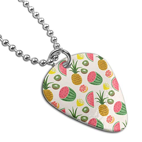 WAY.MAY Fruit Patern Guitar Pick Necklace Pendant Dog Tag Pet Card Keychain]()