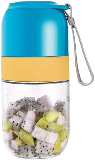 YOUGEYG Portable Juicer Blender, Household Fruit Mixer - Two Blades in 3D, 300ml Fruit Mixing Machine with USB Charger Cable for Superb Mixing