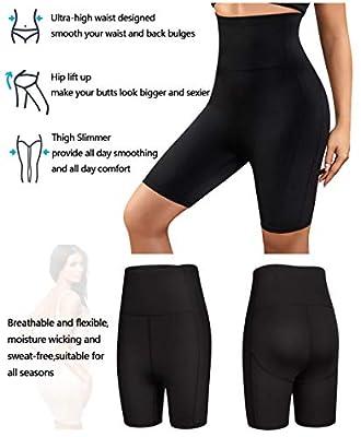 Gotoly Women's Shorts Body Shaper High Waist Smooth Slip Panty Tummy Control Thigh Slimmer
