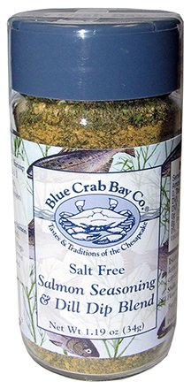 Salmon Seafood Seasoning, Salt Free - Peppers Blue Crab