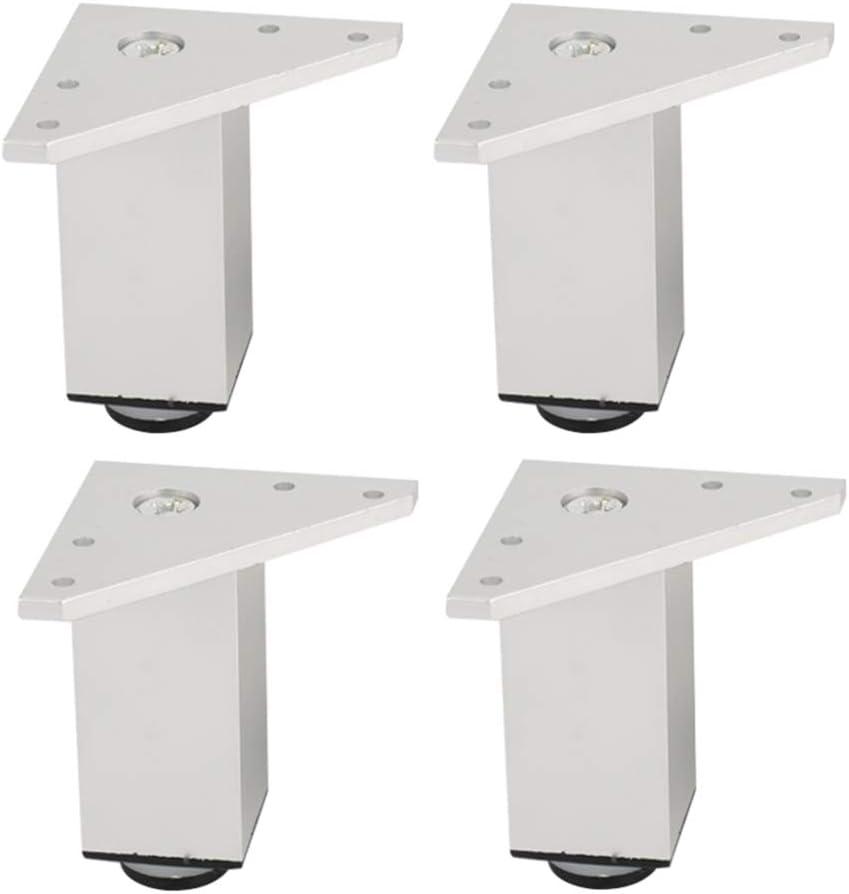 YXYXX Aleación de Aluminio Patas de Sofá,Ajustables Patas de Los Muebles£¬Alacena Mesa de Café Mueble de Ba?o Patas de Mesa la Seguridad/Plata / 10 cm: Amazon.es: Bricolaje y herramientas