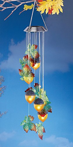 Hanging Autumn Acorn Solar Powered Tree Dangler by Collections Etc