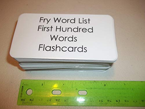 100 Fry First Hundred Laminated Sight Word Flashcards.