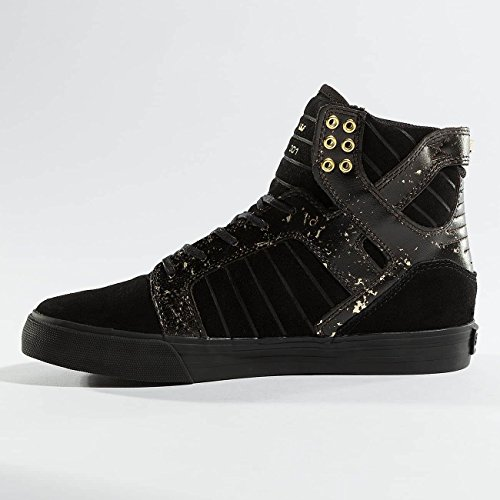 Supra Skytop Medium Sneaker Schwarz / Gold / Schwarz / Schwarz