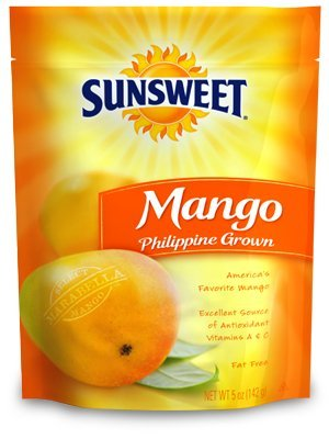 Sunsweet, Dried Fruit, Phillipine Grown Mango, 8oz Bag (Pack of 3)