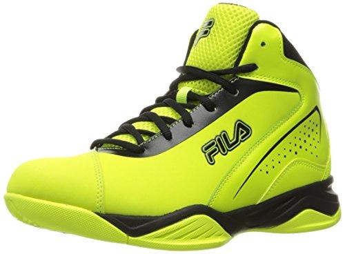 Fila Men's Contingent Basketball Shoe, Safety Yellow/Black, 9 M US