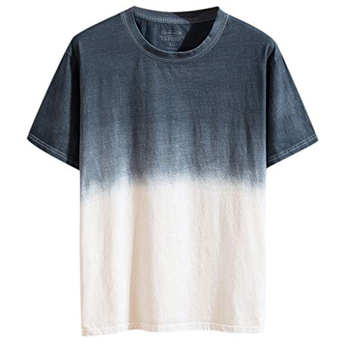 - JJLIKER Mens Gradient Color T-Shirt Short Sleeve Tops Hipster Summer Casual Jersey Crewneck Tunic Tees Gray