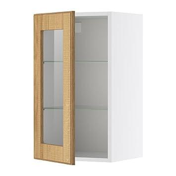 IKEA FAKTUM -Wandschrank mit Glastür Norje Eiche: Amazon.de ...