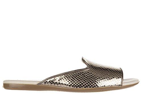 Hogan mujer zapatillas sandalias en piel nuevo valencia araba oro