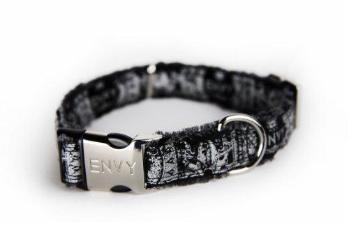 (Nipper & Chipper Envy Hippy Dog Collar, Large, Black)