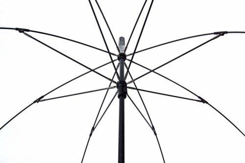 Clear Dome umbrella. Black Border Fibreglass Frame: Amazon.co.uk ...