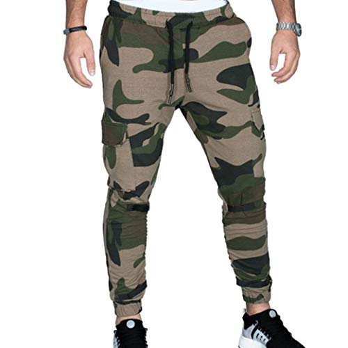 Realdo Hot!Clearance Sale Fashion Men Tight Beam Foot Drawstring Sports Slacks Casual Elastic Pockets Trousers(XXX-Large,Army Green) by Realdo (Image #7)