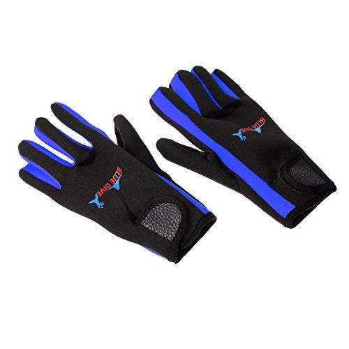 許可するに対処する天国Dovewill 1ペア 1.5mmネオプレン ウェットスーツ ダイビング グローブ アンチスクラッチ 滑り止め 快適 耐久性 全2色 3サイズ選べる
