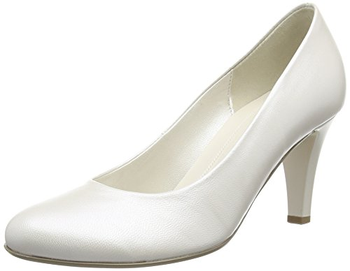 Gabor Lavender L - Zapatos para mujer Blanco (Off White Pearlised Leather)