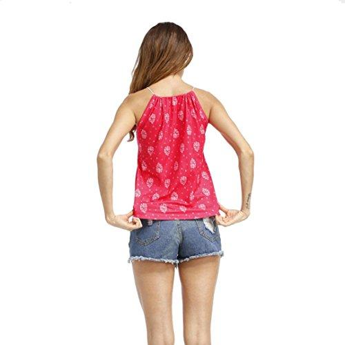 Sangle Dames Maxi LuckyGirls Tops Blouse 2XL Rose Imprimé V T Shirt sans Camisole Manches Casual Cou Femmes Gilet Réservoir Vif M qawEf1z