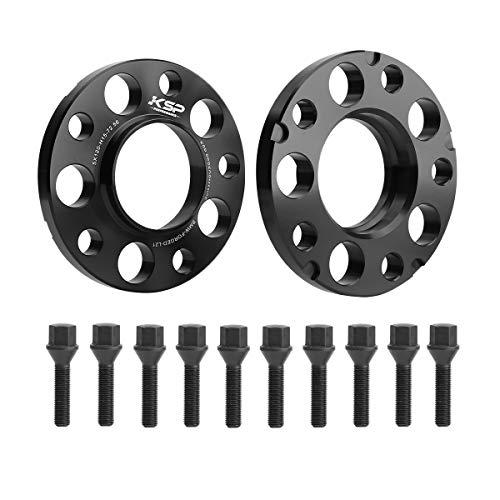 KSP 5X120mm Wheel Spacers, 2PCS 15mm Hubcentric Forged Spacer for BMW E36 E46 E90 E92 E60 318i 323i 325i 328i 330i 335i 525i 545i Thread Pitch M12x1.5 Hub Bore 72.56mm