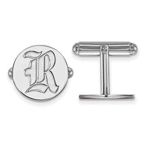 Rice University Owls Cuff Links in Sterling Silver 7.04 gr