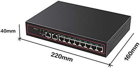 DP-iot HOT-Diewu 10 Port Spoe Gigabit Ethernet Network Switch 10//100Mpbs Hub 8 Ports Poe Power Switch Injector for IP Camera Us Plug