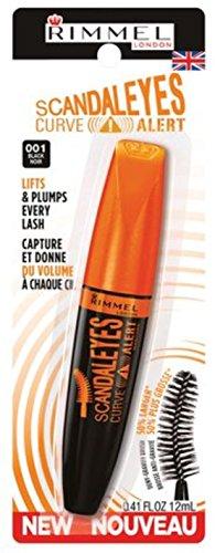 Rimmel Volumizing Mascara - Rimmel Scandaleyes Curved Brush Mascara, Black 0.41 oz (Pack of 2)