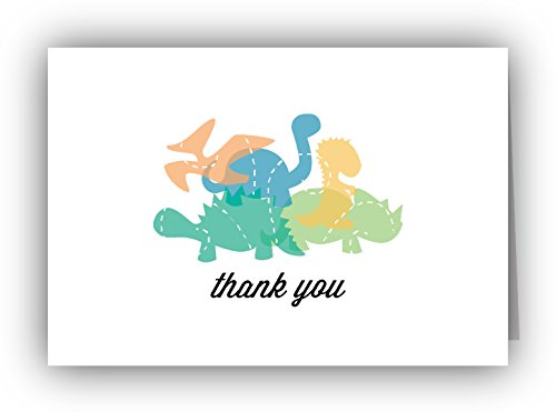 Playful Dinosaurs Thank You Cards - 24 Cards & Envelopes (Baby From The Dinosaurs)