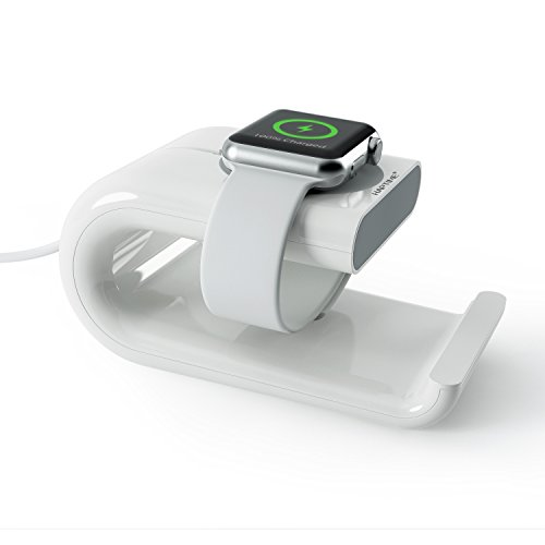 HAPTIME Apple Watch Stand Charging Dock and Cell Phone Tablet Stand Holder fit 38mm and 42mm Apple Watch Edition Sport Series 1 2 iPhone 7 Plus 6 6s Plus 6SE 5 5s 5C iPad Mini Air Pro 2 3 4 (White)