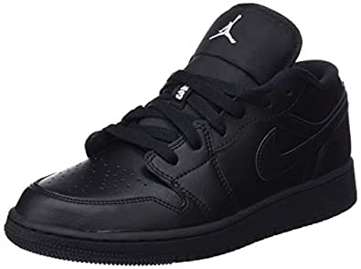 Nike Air Jordan 1 Low Bg, Boys' Basketball Shoes, Black (Black 006), 6 UK (39 EU) (Nk553560_006)