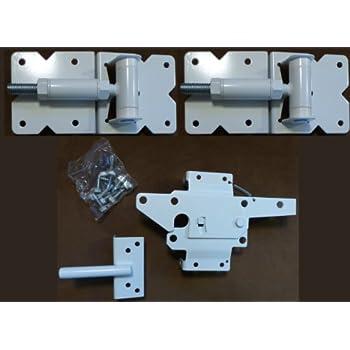 Amazon Com Vinyl Fence Hardware Single Gate Kit White