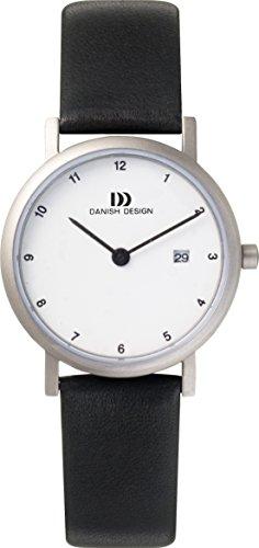 Danish Design IV12Q272 Titanium Case Leather Band White Dial Women