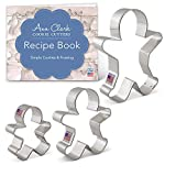 Ann Clark Christmas Gingerbread Man Cookie Cutters 3pc USA Made Steel Deal (Small Image)