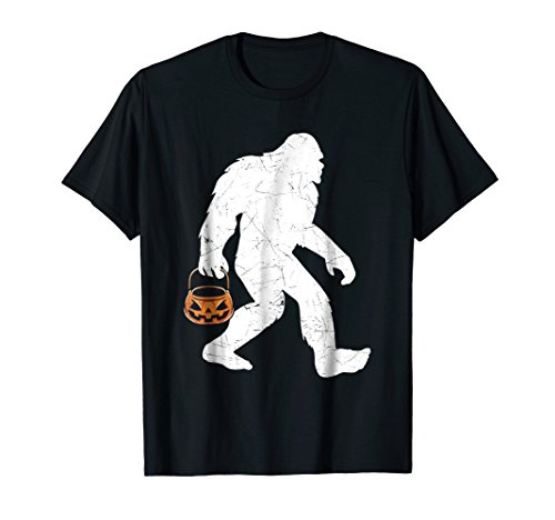 Bigfoot Pumpkin Halloween Costume Funny T-Shirt -