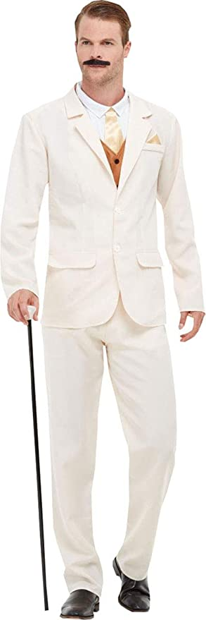 1920s Men's Costumes: Gatsby, Gangster, Peaky Blinders, Mobster, Mafia Smiffys Mens Fancy Dress Party Roaring 20s Gent Costume Outfit $81.49 AT vintagedancer.com