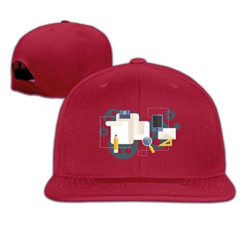 Engineering Flow Chart Men's Hip Hop Flat Baseball Cap Adjustable Dad Hat