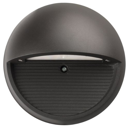 Lithonia Lighting OLSR DDB M6 Outdoor LED Step Light Round, Black Bronze by Lithonia Lighting