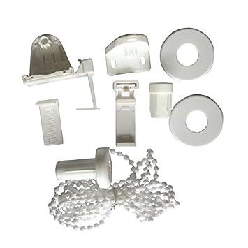 SODIAL (R) 17 mm Rodillo Estor accesorios, techo, embrague de repuesto Kit de reparación de Set de soportes para cortina de perlas cadena estor ventana ...