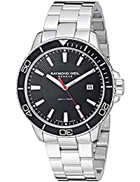 Men's 'Tango 300' Quartz Stainless Steel Casual Watch, Color:Silver-Toned (Model: 8260-ST1-20001)