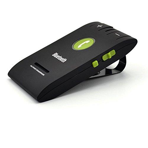 Freisprecheinrichtung Bluetooth 4.0 Auto   Ultra Schlank Schwarz   Mehrpunktanlage für Smart Phones   Sonnenblende   A2DP   Musik GPS Unterstützung