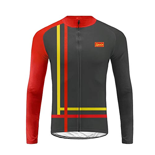 Uglyfrog Mens Cycling Jersey US National Flag Color Matching Windproof Breathable Lightweight High Visibility Warm Thermal Long Sleeve Jacket MTB Mountain Bike Jacket