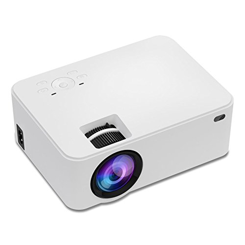 1080P Projector, Towond 1800 Lumens LCD Mini Projector with FHD 1080P,Home Theater Video Projector 170'' Display,Compatible with HDMI,VGA,USB,AV,SD and More 32' Full 1080p Lcd