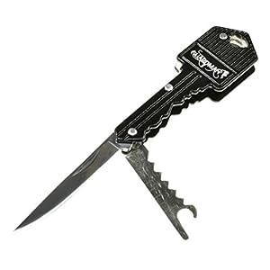 Guardman Key Knife, Keychain Key Shaped Folding Pocket Knife, Self Defense Keychain Christmas Gift for Men Stocking Stuffers for Him