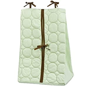 Bacati – Quilted Circles Lime/Chocolate Diaper Stacker