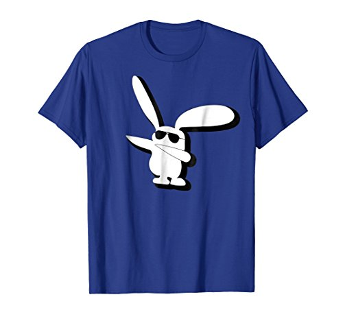 Dabbing Hip Hop Bunny Easter T-Shirt - Cool Kids Adults Dab (Easter Bunny Yellow T-shirt)