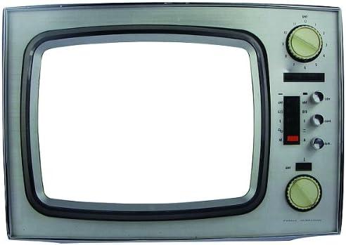 Casa - TV Shapes, TV marco para una mayor sujeción lo increíble, blanco (SH1202) material a base de madera, para ...