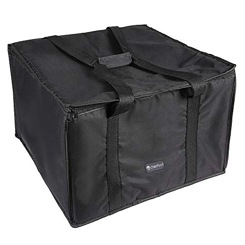 cherrboll Insulated Pizza Delivery Bag, 20 by 20 by 14 -Inch, Commercial Grade Food Delivery Bag, Moisture Free