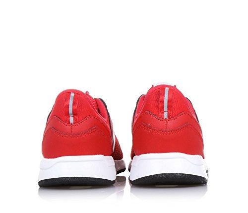 NEW BALANCE - Scarpa ginnica 274 Preschool stringata rossa, in tessuto sintetico, Unisex Bambino, Bambina