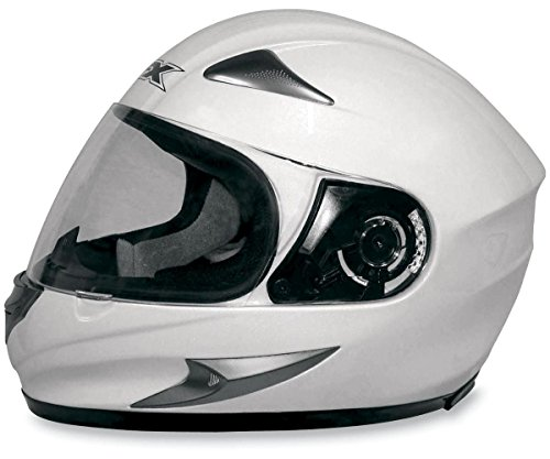 AFX FX-90 Solid Full Face Motorcycle Helmet (Pearl White, Medium)