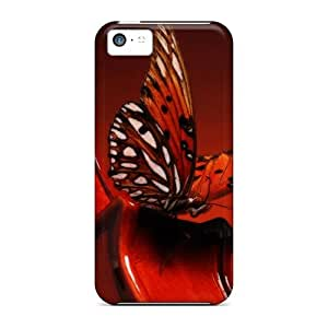 Ultra Slim Fit Hard Saraumes Case Cover Specially Made For Iphone 5c- A Butterfly Ling On A Violin